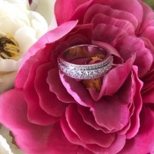 Jewelry - NEW SIZES Gold Filled CZ White Sapphire Ring